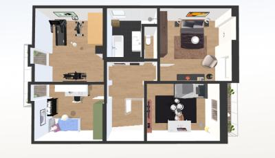 Rozostavaný radový rodinný dom vo Veľkom Slavkove 3D Model