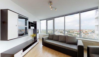 Trojizbový byt s panoramatickým výhľadom z 20. poschodia